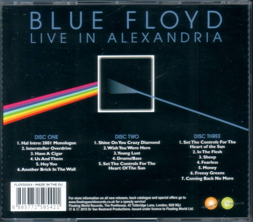 Blue Floyd - Live In Alexandria (2015) {3CD Box Set}