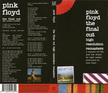 Pink Floyd - The Final Cut: High Resolution Remasters (1983) {2018, 4CD Box Set, Numbered Limited Edition}