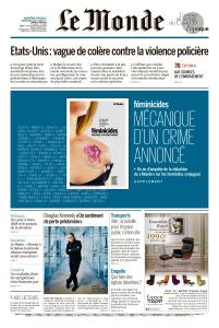 Le Monde du Dimanche 31 Mai et Mardi 2 Juin 2020