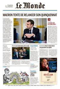 Le Monde du Mardi 15 Janvier 2019