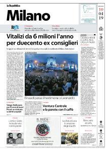 la Repubblica Milano - 10 Aprile 2019