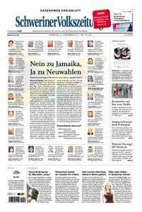 Schweriner Volkszeitung Hagenower Kreisblatt - 21. November 2017