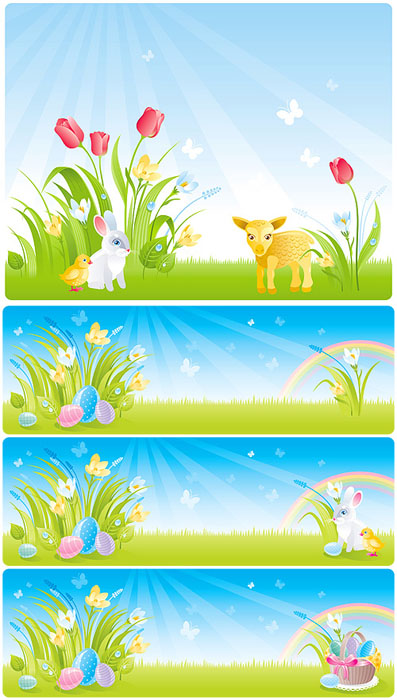 Spring easter vectors