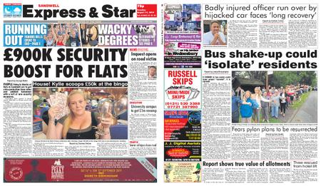 Express and Star Sandwell Edition – August 13, 2019