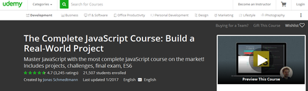 The Complete JavaScript Course: Build a Real-World Project (2017)