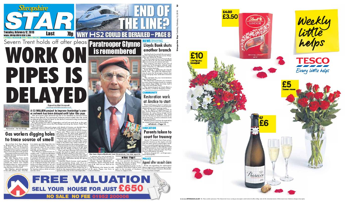 Shropshire Star Last Telford Edition – February 12, 2019