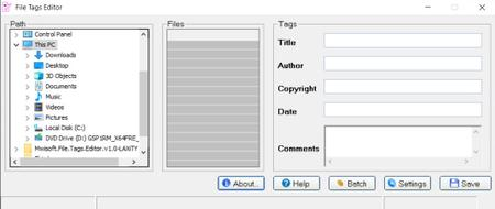 Mwisoft File Tags Editor 1.0