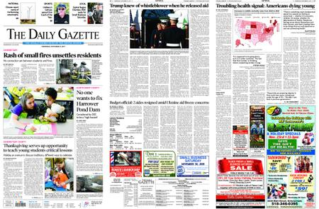 The Daily Gazette – November 27, 2019