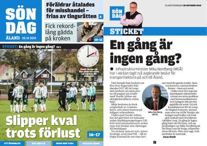 Ålandstidningen – 28 oktober 2018