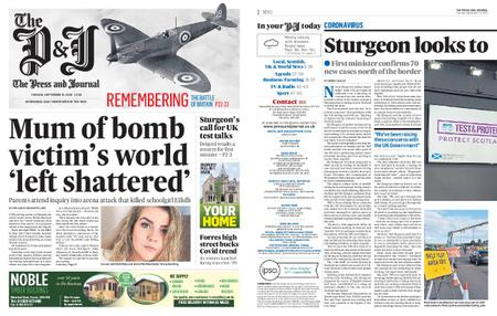 The Press and Journal Moray – September 15, 2020