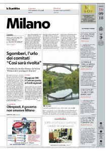 la Repubblica Milano - 16 Settembre 2018