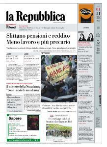la Repubblica - 1 Novembre 2018