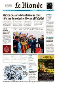Le Monde du Mercredi 19 Septembre 2018