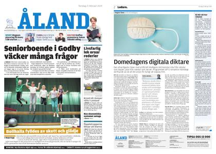 Ålandstidningen – 21 februari 2019