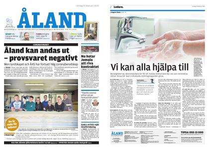 Ålandstidningen – 29 februari 2020