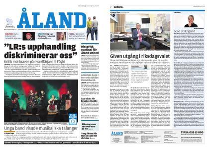 Ålandstidningen – 18 mars 2019