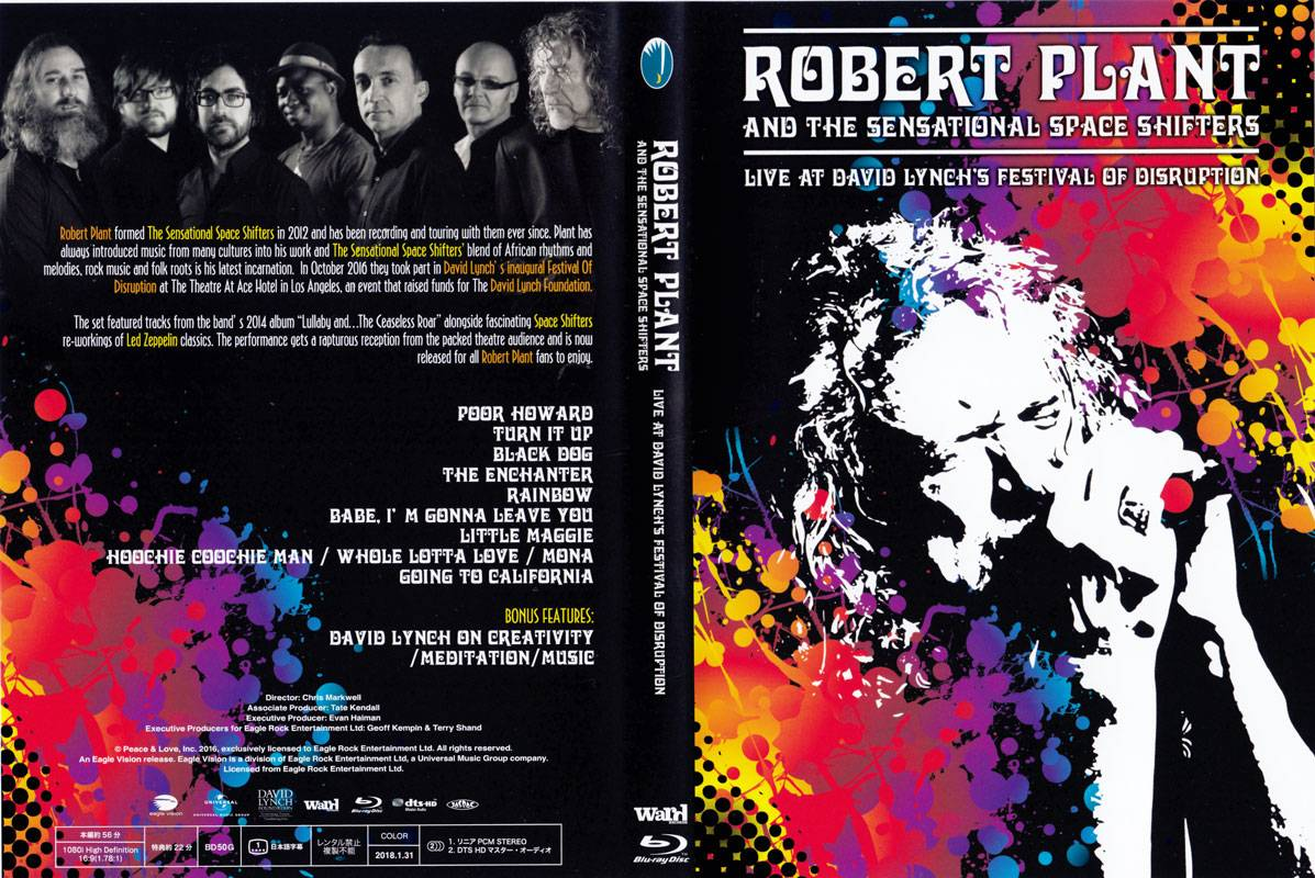 Robert Plant and The Senational Space Shifters - Live at David Lynch's Festival of Disrupt (2018) [Blu-ray 1080i & BDRip 720p]