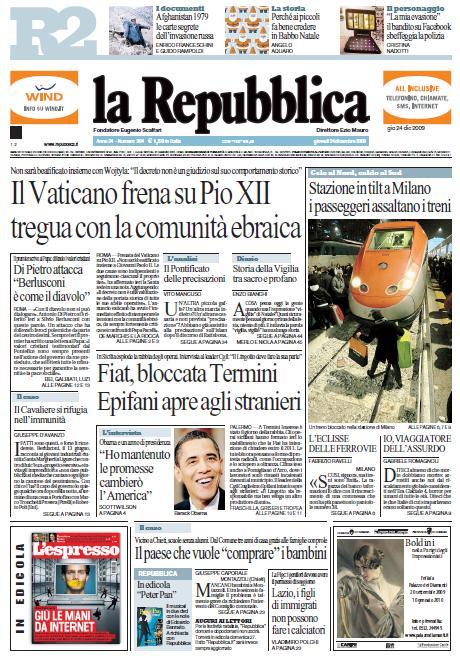 La Repubblica (24-12-09)