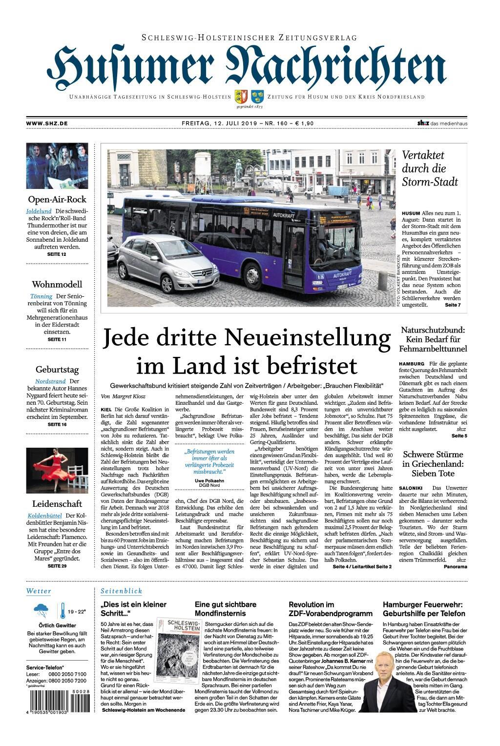 Husumer Nachrichten - 12. Juli 2019