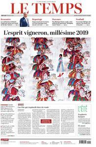 Le Temps - 18 juillet 2019