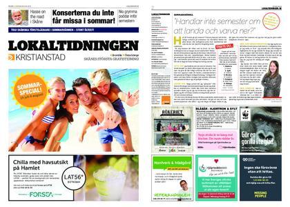 Lokaltidningen Kristianstad – 20 juli 2019