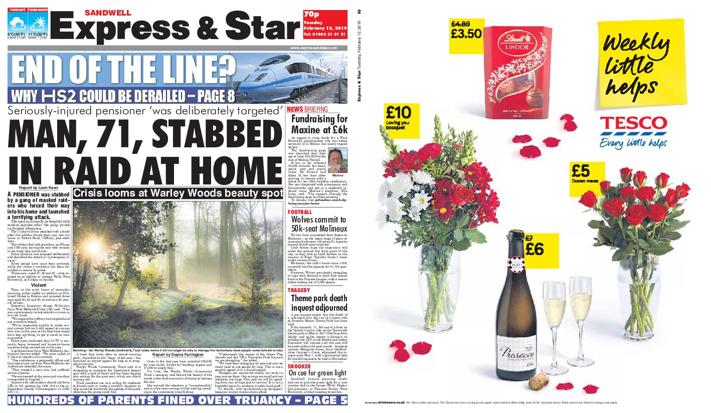 Express and Star Sandwell Edition – February 12, 2019