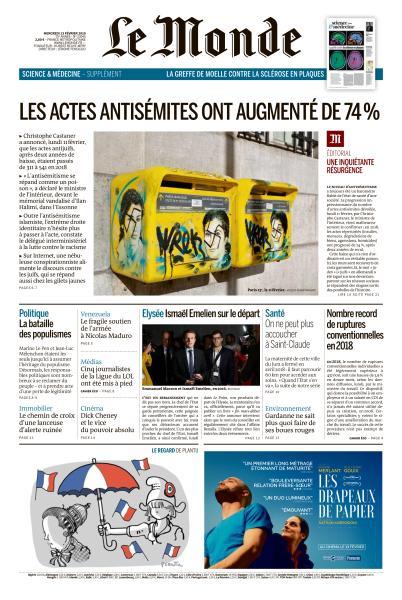 Le Monde du Mercredi 13 Février 2019