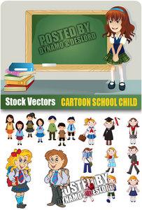 Cartoon school child - Stock Vectors