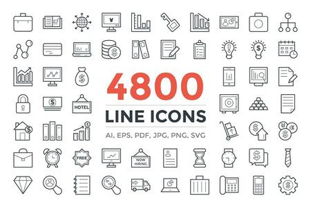 CM - 4800 Line Icons Pack 2201182