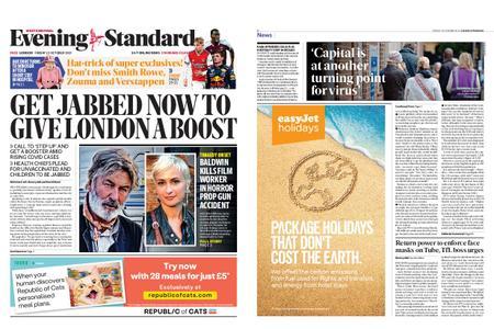 London Evening Standard – October 22, 2021