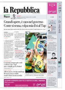 la Repubblica - 29 Ottobre 2018