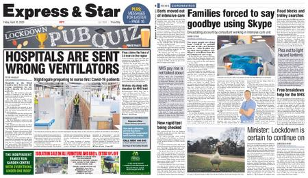 Express and Star City Edition – April 10, 2020