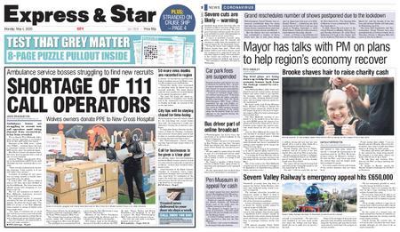 Express and Star City Edition – May 04, 2020