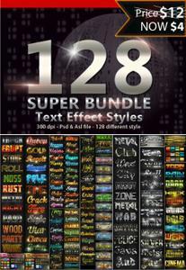 128 Super Bundle Text Styles 13784521