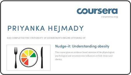 Coursera - Nudge-it: Understanding Obesity (The University of Edinburgh)