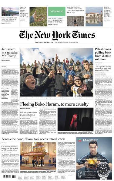 International New York Times - 9-10 December 2017