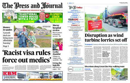 The Press and Journal Moray – August 21, 2018