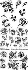 Vectors - Roses Decoration Elements 16