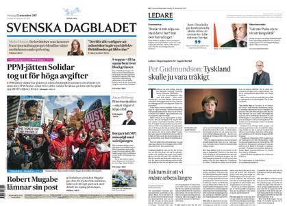 Svenska Dagbladet – 22 november 2017