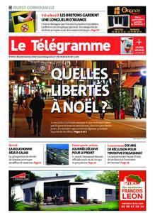 Le Télégramme Ouest Cornouaille – 08 décembre 2020