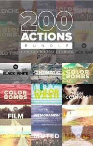 CreativeMarket - 200 Premium PS Actions Bundle