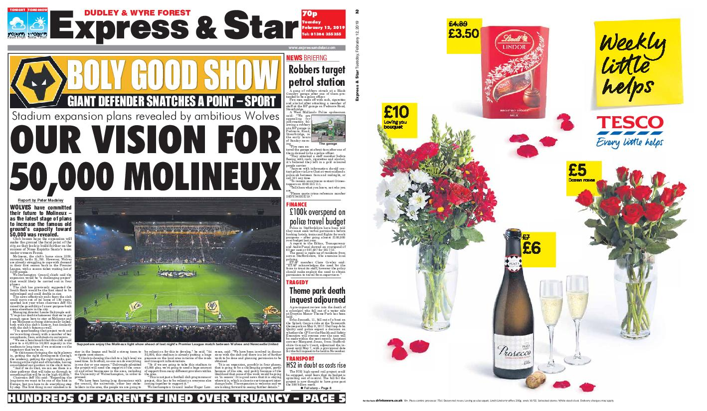 Express and Star Dudley and Wyre Forest Edition – February 12, 2019