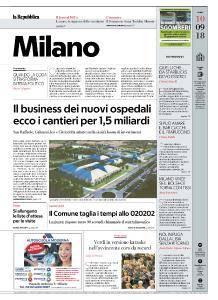 la Repubblica Milano - 10 Settembre 2018