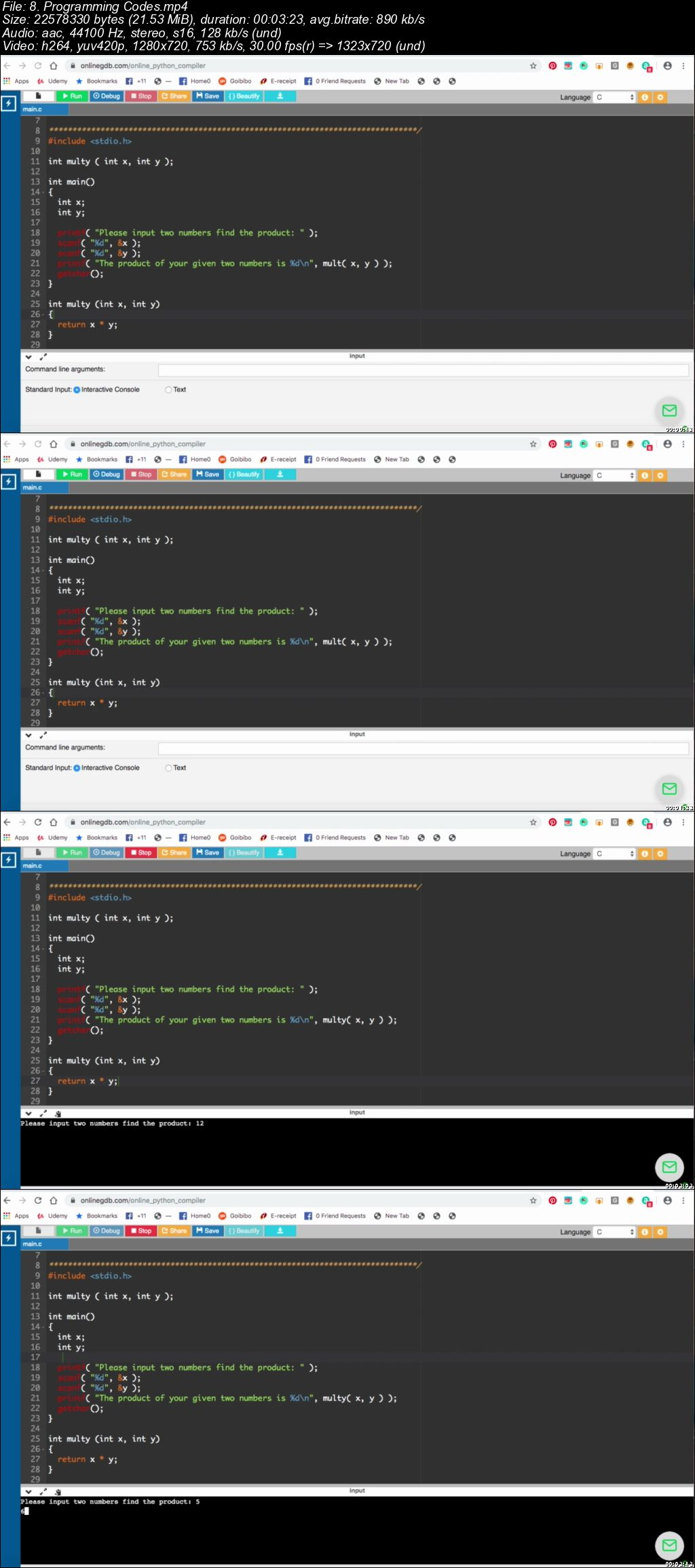 50 C Programming Source Codes Explained