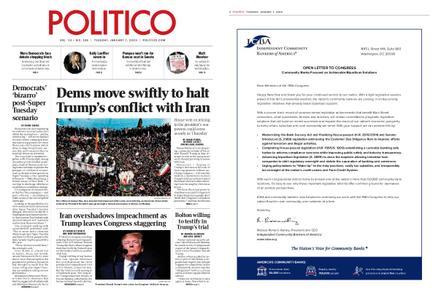 Politico – January 07, 2020