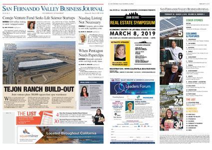 San Fernando Valley Business Journal – February 18, 2019