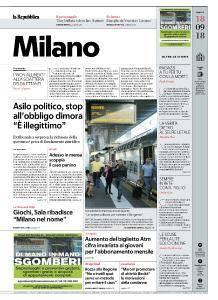 la Repubblica Milano - 18 Settembre 2018