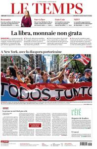 Le Temps - 05 juillet 2019