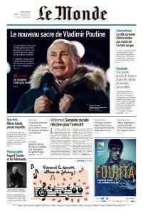 Le Monde du Mardi 20 Mars 2018