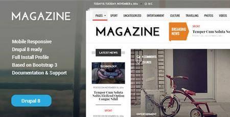 ThemeForest - Gazeta v1.2 - News & Magazine Drupal 8 Theme - 18873576